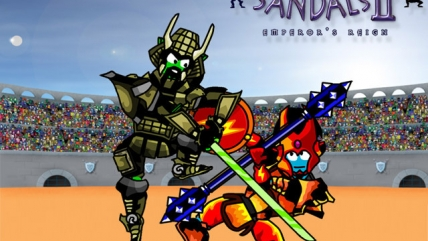 Swords And Sandals 2 играть, как качаться, чит-коды.