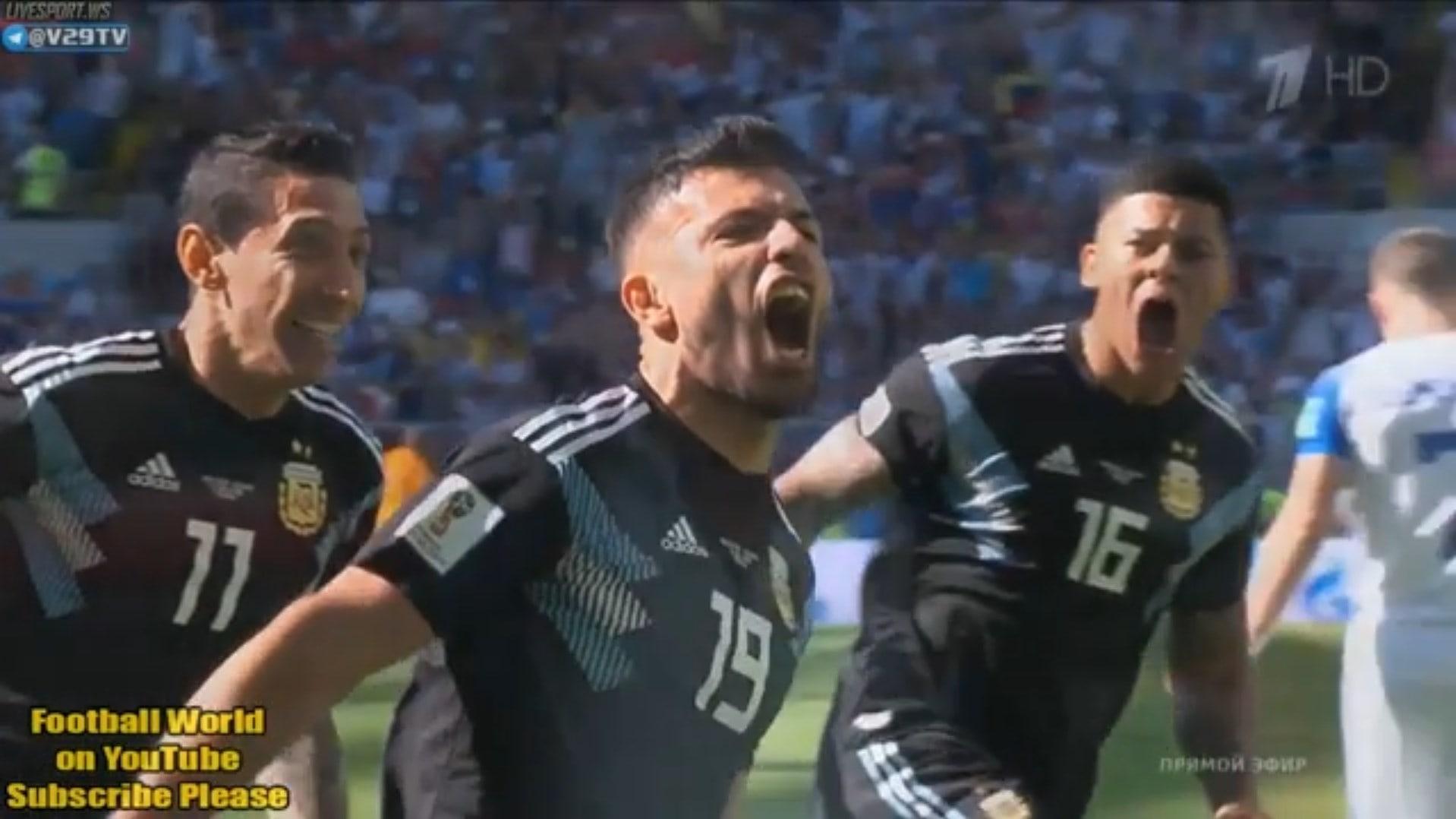 Видео голов матча Аргентина — Исландия 2018, лучшие моменты