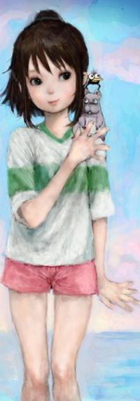 Маленькая девочка Тихиро подойдет на аву истинным фанатам великолепного аниме Унесенные призраками. Она смелая, целеустремленная и готова пойти на любую опасность для спасения родителей. Ее стойкому характеру нужно поучиться!