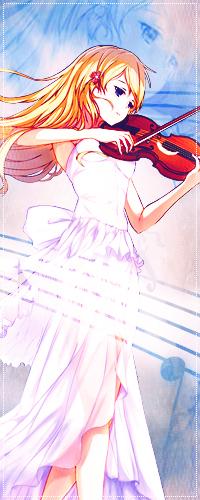 Каори Миядзоно из аниме Твоя апрельская ложь понравится творческим и ранимым девушкам.