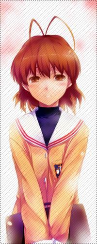 Фурукава Нагиса из аниме Кланнад подойдет для аватарки застенчивым, искренним и влюбленным девушкам.