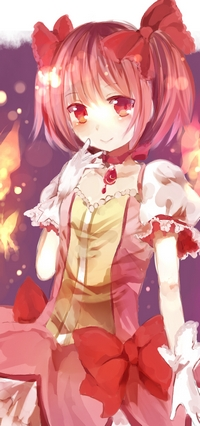 Волшебница Канамэ Мадока рискует всем для спасения подруги, обладает искренними чувствами. Подойдет для аватарки смелым и решительным девушкам.
