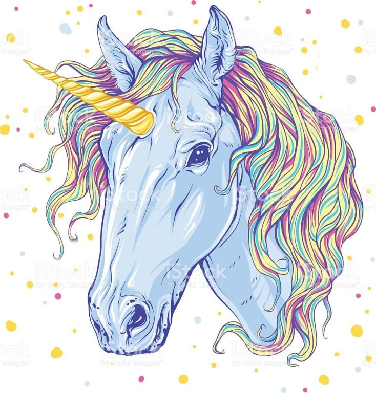 Unicorn: Beautiful Pictures for Sketching. Easy and Complex