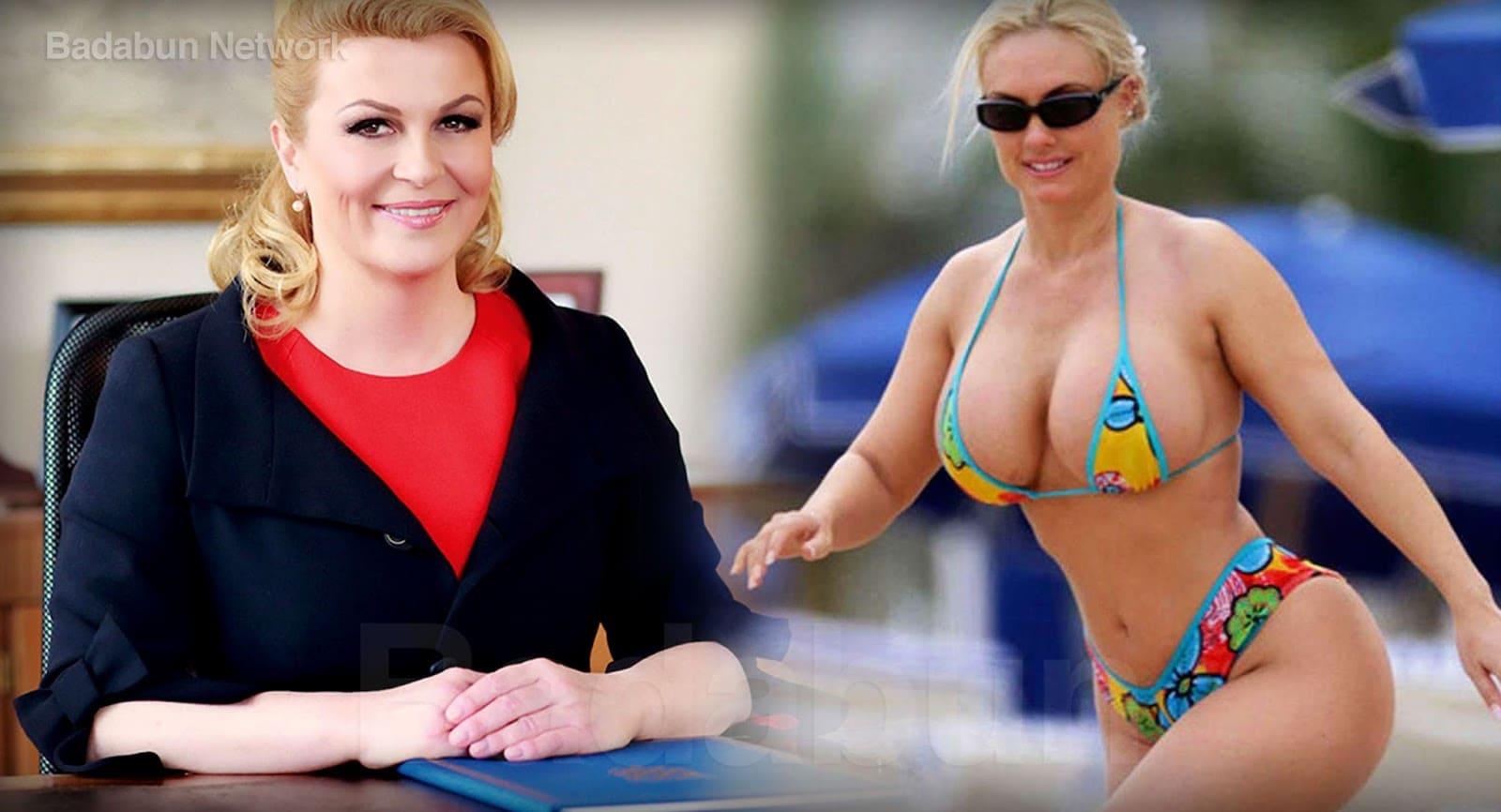 Президент Хорватии: фото в купальнике на пляже в молодости, сейчас