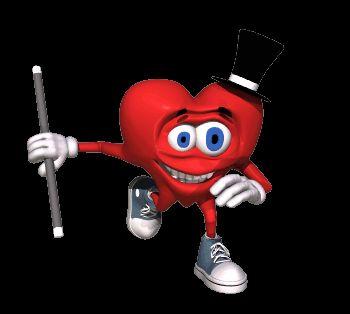 Гифка для презентации сердце-фокусник