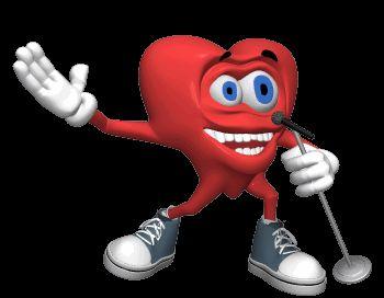 Гифка для презентации сердце поёт