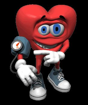 Гифка для презентации сердце меряет давление