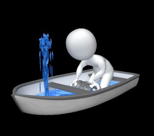 Гифка для презентации спасение тонущей лодки