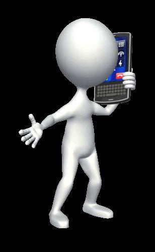 Гифка для презентации, где человек общается по мобильному