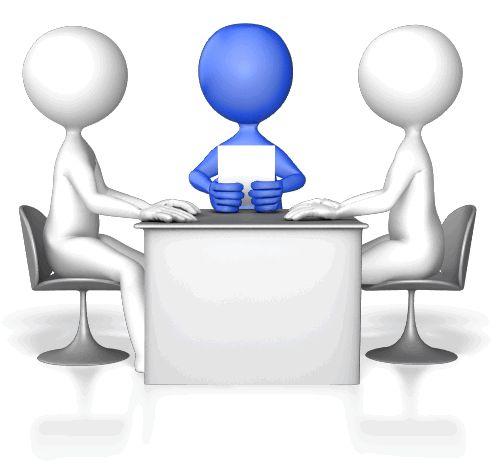 Гифка для презентации с бизнес совещанием