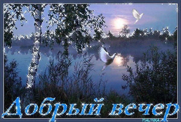 """Гифки """"Добрый вечер"""" очень красивые. Подборка gif анимаций"""
