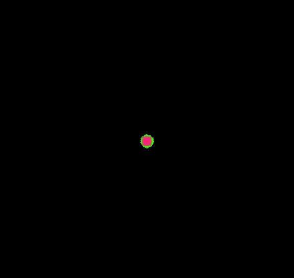 Гифка с салютом в виде компьютерной графики
