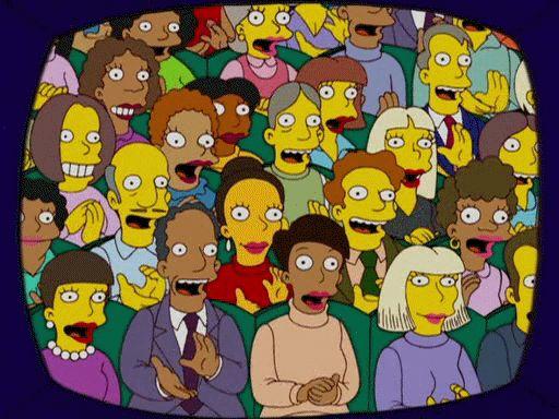 Гифка аплодисменты из Симпсонов