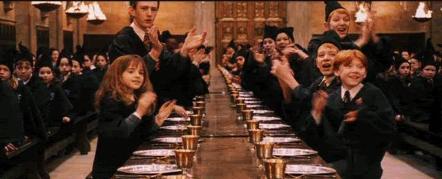 Гифка аплодисменты в Хогвартсе