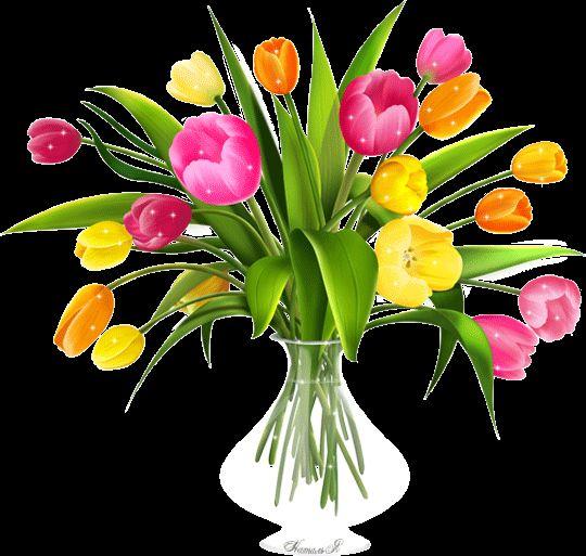 гифка букет тюльпанов