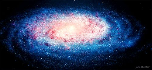 красно-бело-синяя галактика gif