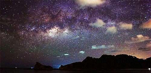 красивый вид на небо gif