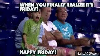 Гифки Пятница. 90 прикольных GIF анимаций окончания недели