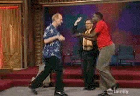 Гифка танцуют трое