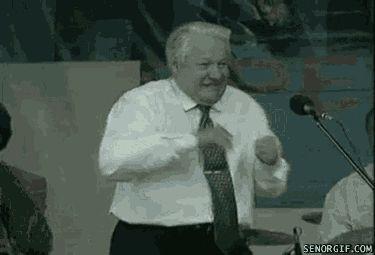 Гифка танцует Ельцин