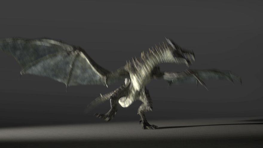 Гифка танцует дракон