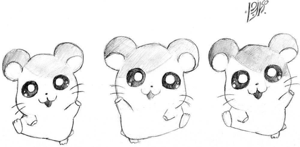 рисунок карандашом зверюшки милые