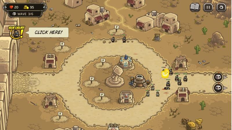 Kingdom Rush Frontiers. Флеш игра онлайн бесплатно