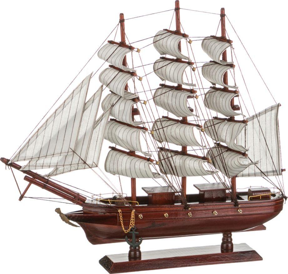 Подарок на 23 февраля - модель корабля с парусами