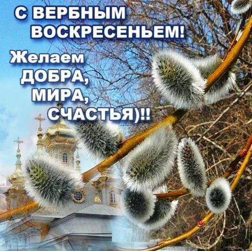 """Картинки """"С Вербным воскресеньем!"""", красивые гифки, открытки, поздравления"""