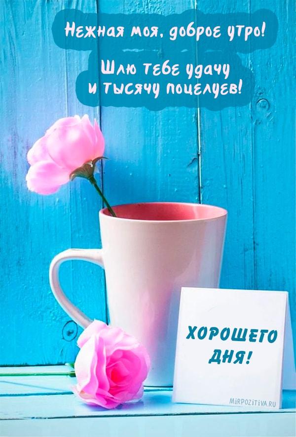 Красивые открытки для любимой женщины с добрым утром