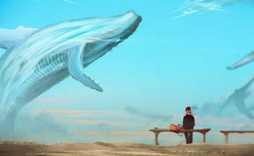 Синий кит и человек