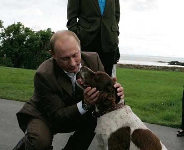 Путин и собака Буша старшего
